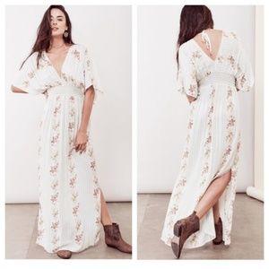 Lovestitch Caftan Maxi Dress Navy Floral M/L